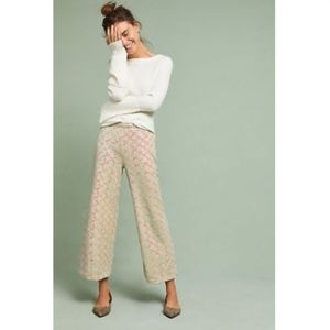 NWT ANTHRO SHOWSTOPPER SEQUINED WIDE-LEGS PANTS